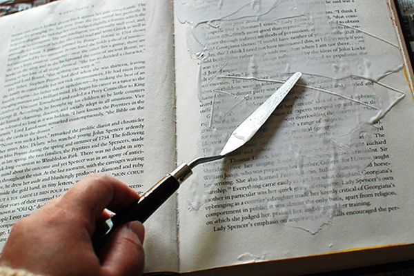 Prepping the Pages of an Altered Book Journal - Johwey Redington | Johwey Redington