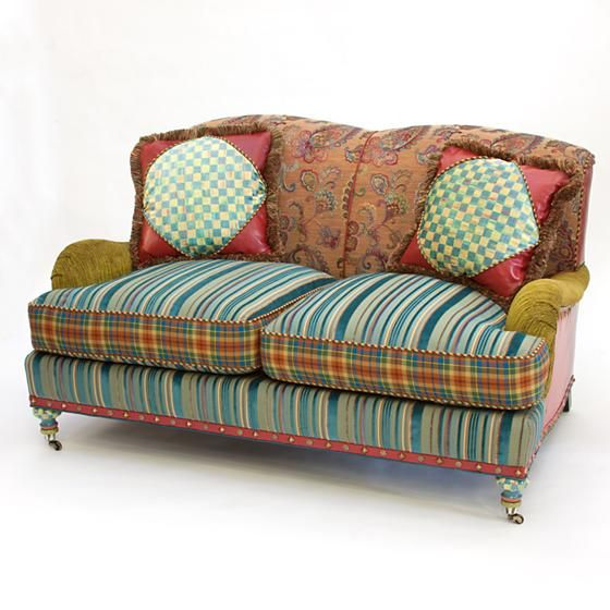 Highland Loveseat: Does It Get Any Cozier? Inviting Tapestry And Velvet  Fabrics, MacKenzie