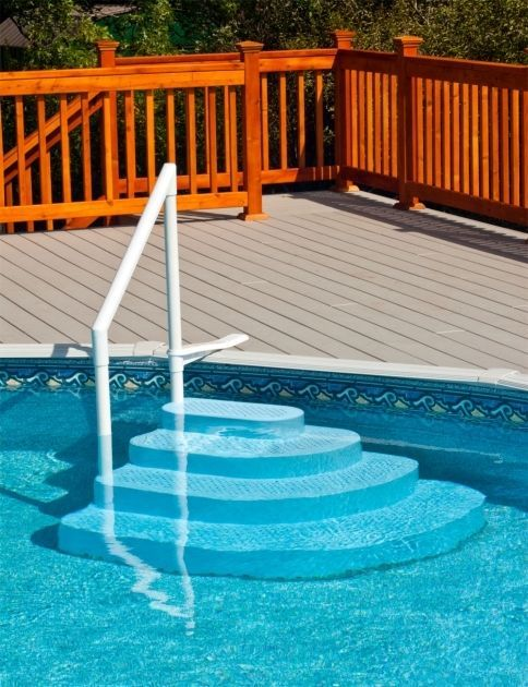 how to build stairs for an above ground pool