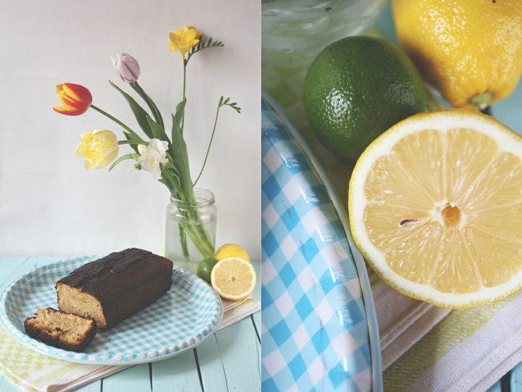 lemon candied ginger cake with vanilla glaze | Good Natured Food ...