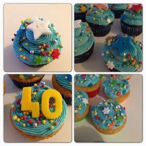Sterren cupcakes