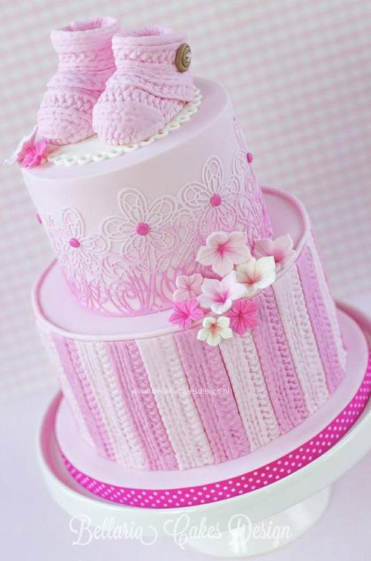 Its A Baby Girl Booties Cake