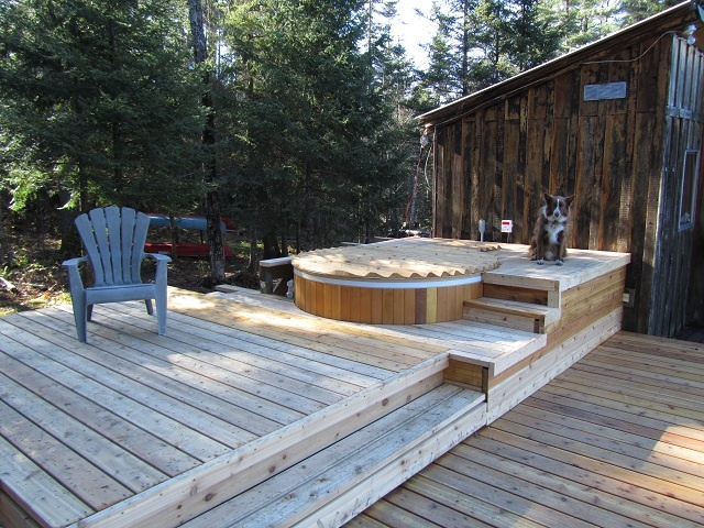 1000 images about hot tub deck on pinterest hot tub for Waterfront deck designs
