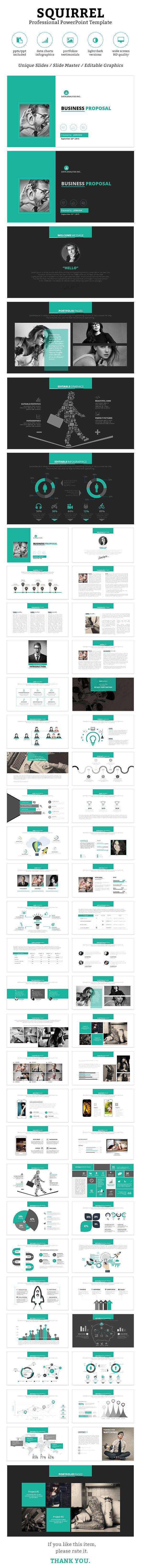 Squirrel PowerPoint Template #design #slides Download: http://graphicriver.net/item/squirrel-powerpoint-template/13058036?ref=ksioks