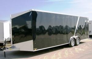 2013 Lightning 8 ' x 22 ' Black Aluminum Enclosed Car Trailer