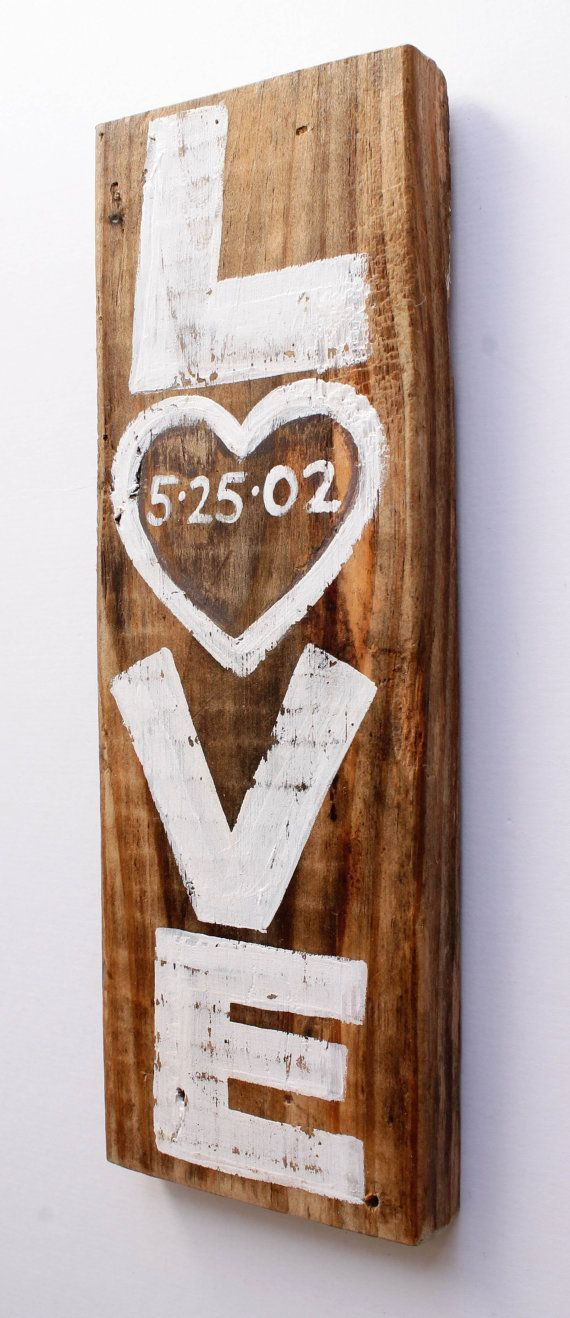 Custom Rustic White Wedding Sign Decor Personalized by MangoSeed -repinned from LA officiant https://OfficiantGuy.com
