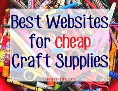 Saving on craft supplies including beads, scrapbook paper, crochet items and more is just a click away... here are the best websites on the web to buy cheap craft supplies!