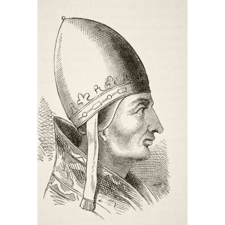 Pope Innocent Iii 1161 To 1216 From The National And Domestic History Of England By William Aubrey Published London Circa 1890 Canvas Art - Ken Welsh Design Pics (22 x 34)