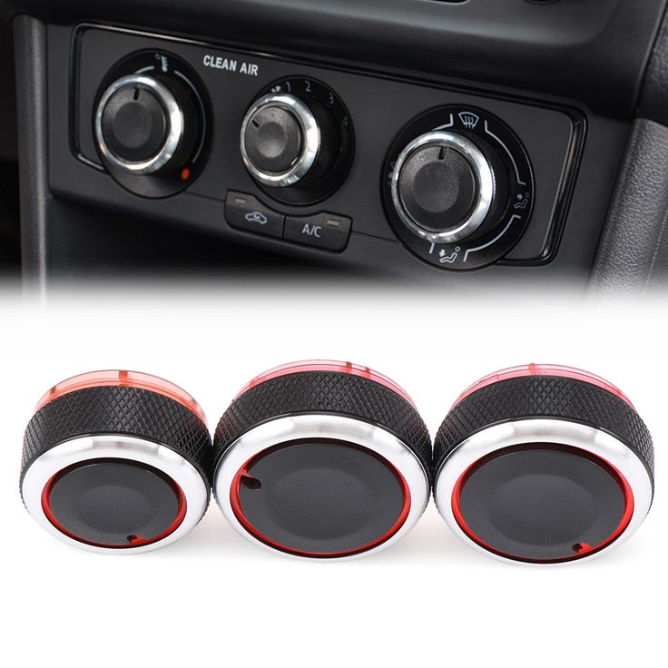 Car AC Knob Car Air Conditioning heat control Switch knob,Aluminum alloy accessories,suitable for Volkswagen VW Polo 2004-2013