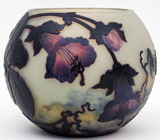 Art Nouveau Vase Boule - Pâte de Verre - Müller Frères - Vers 1915