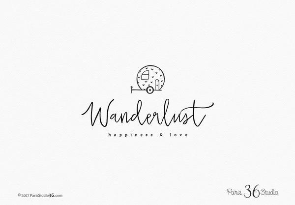 Handwriting Travel Blog Logo Design Logodesign Etsyshop Cover