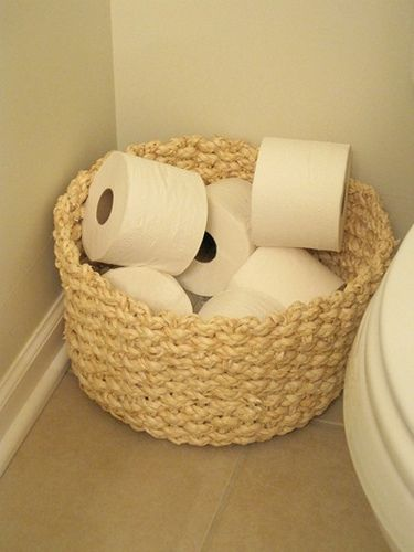 Basket For Extra TP. Find This Pin And More On Toilet Paper Storage ...