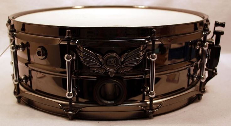 """14"""" Phoenix PDC Snare Drum Black Chrome Remo Weatherking Ghost Port Puresound  #Phoenix #PDC #snare #drum"""