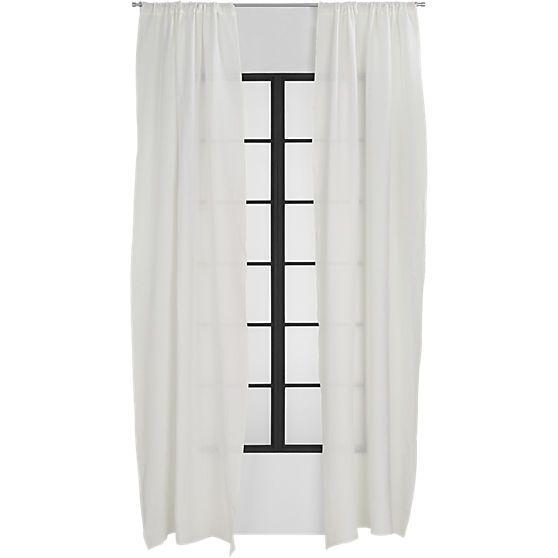 "white linen curtain panel 48""x108""    CB2"