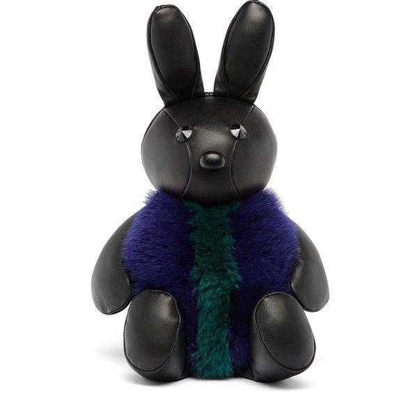 MCM Rabbit Fur Crossbody (27,480 MXN) ❤ liked on Polyvore featuring bags, handbags, shoulder bags, crossbody handbag, mcm purse, mcm handbags, cross body and mcm