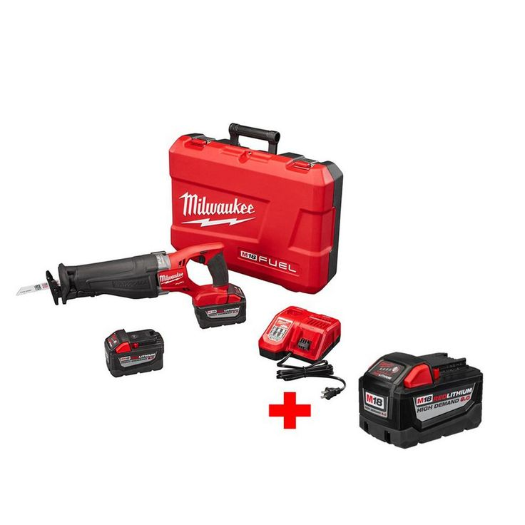 Milwaukee M18 Fuel 18-Volt Lithium-Ion Brushless Cordless Sawzall Reciprocating Saw High Demand 9.0Ah Kit with Free 9.0Ah Battery