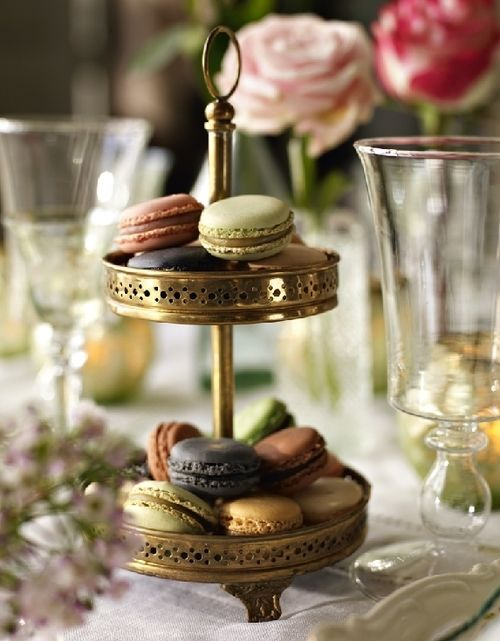Macaron and roses... via Gypsy Purple home......