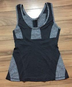 Lululemon Womens Multicolour Grey Cotton Blend Polyester Tank Top Small | eBay