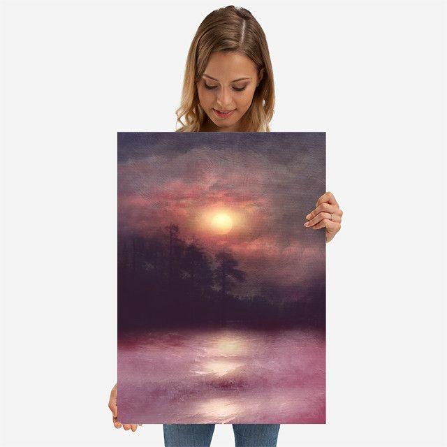 Hope in the pink water by Viviana Gonzalez | Displate