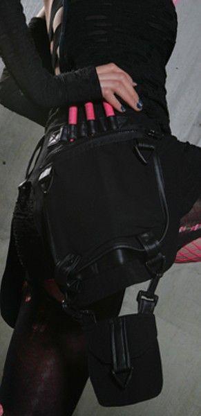 Goth cargo belt in lue of diaper bag?