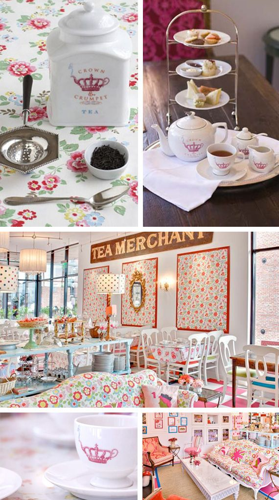 Tea Room ♥ I LOVE THIS! I have always wanted to open up a juice/smoothie bar but I am such a tea freak as well. The style of this space is adorable.