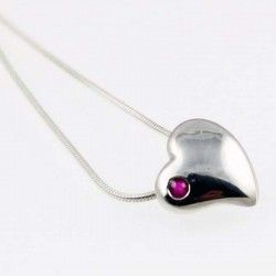 Ruby Heart Silver Pendant #Gemstone #Jewellery