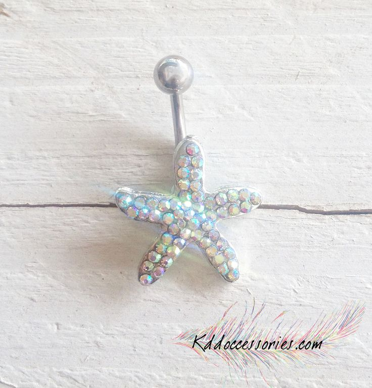 Blue Starfish Belly Ring | Occessories