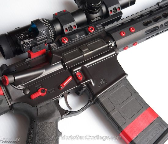 Mobile-optimized version of the 1st project picture. Graphite Black H-146Q, Aero Precision, Smith & Wesson Red H-216, Tactical Rifle