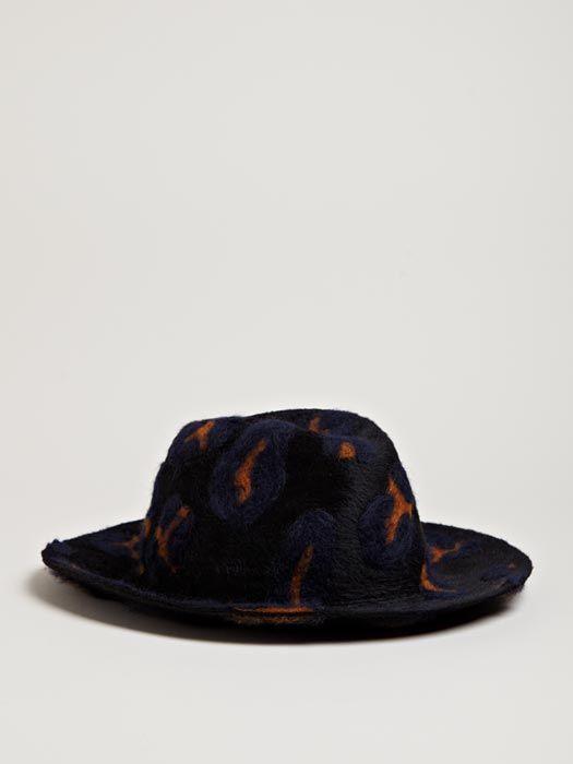 Yohji Yamamoto Men's Felted Beaver Hat