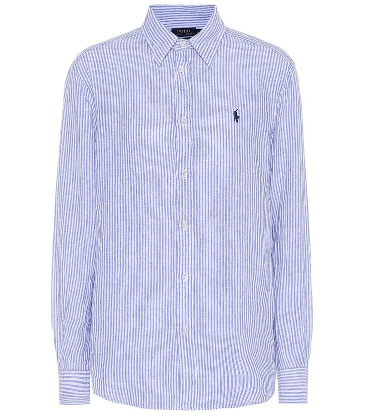 Polo Ralph Lauren - Camicia a righe in lino - La camicia a righe bianche e blu  di Polo Ralph Lauren rispetta tutti i codici sartoriali che ne hanno fatto  un ...