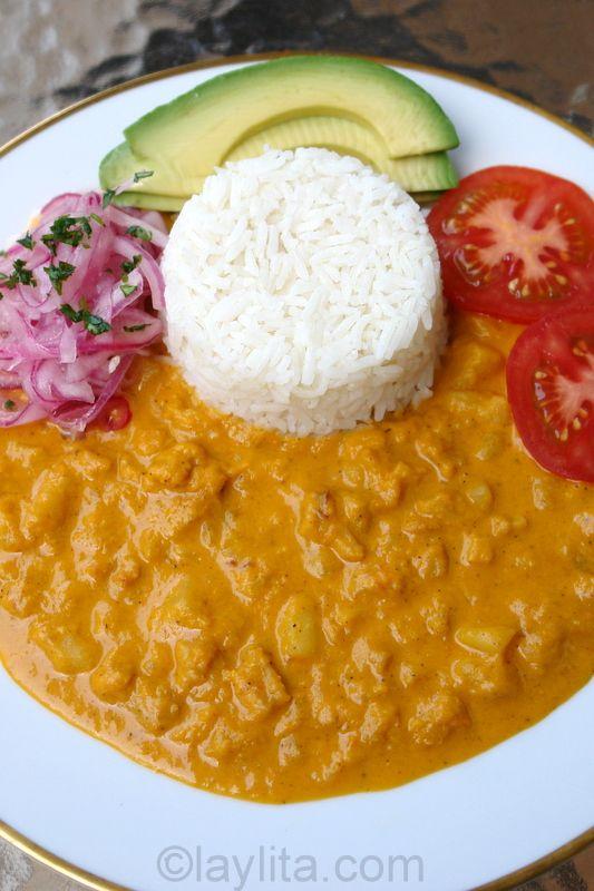 Guatita is an Ecuadorian tripe stew in a potato peanut sauce
