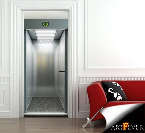 DS24 - door sticker illusion of elevator door opening. illusion door mural door skin  sc 1 st  Pinterest & Best 25+ Door murals ideas on Pinterest | Door stickers Cool ... pezcame.com