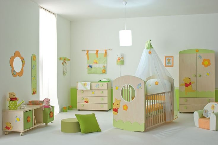Baby Nursery. Mesmerizing Baby Room Design Ideas: Appealing Modern Nursery Room Design Ideas With Green In White Nuance For Comfortable And Spacious Space ~ wegli