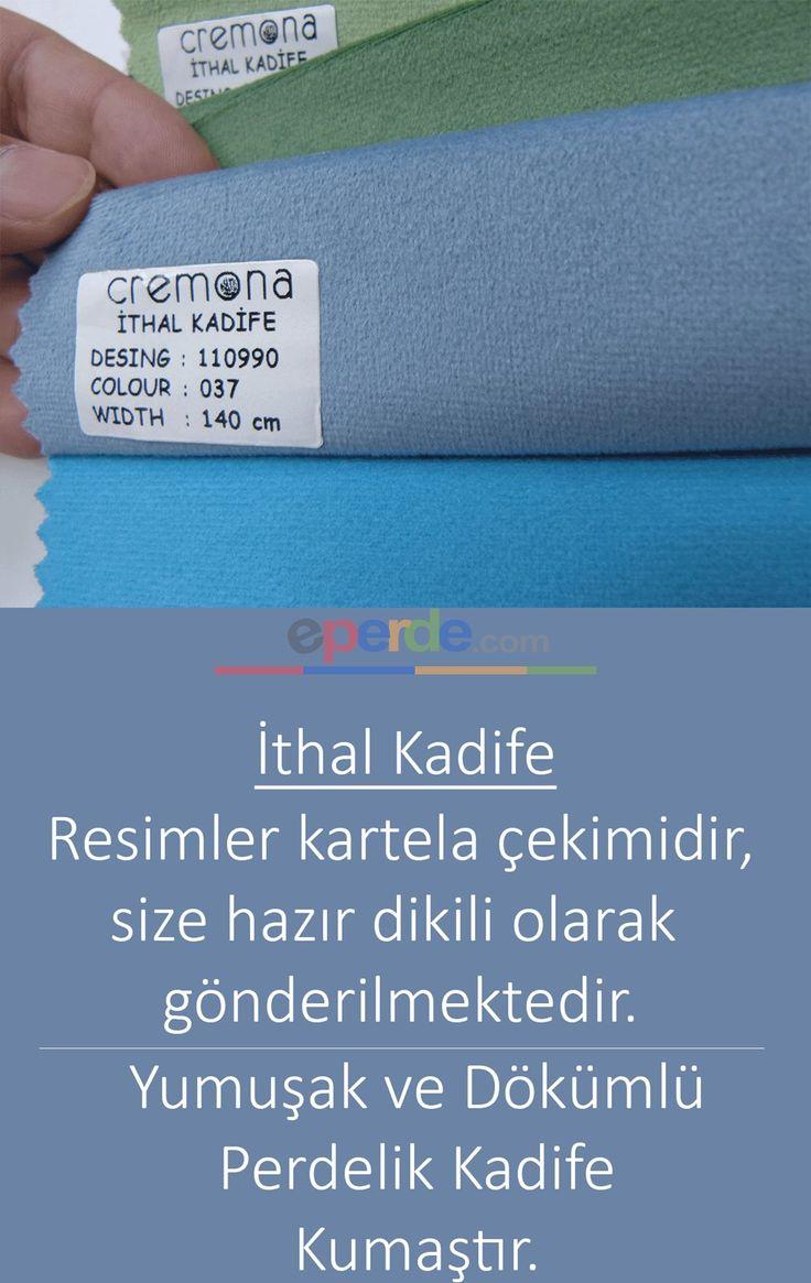 Grimsi Mavi Kadife Fon Perde 110990-037