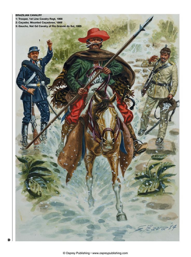 Brazil; Cavalry, 1865-69