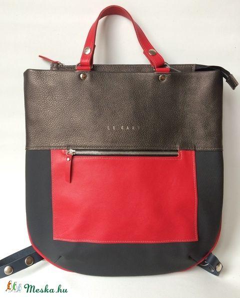 Bindy többfunkciós bőr-textil kombi táska  (hegymegigabi) - Meska.hu