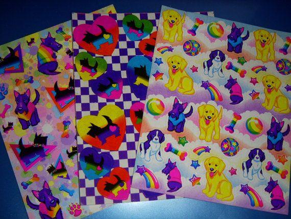 LISA FRANK  sticker lot Puppy Dog variety Terrier by 4JOY2YOU