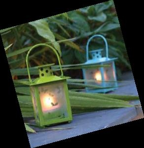 Outdoor Lanterns In Colors Raspberry, Blue & Green.€10.00