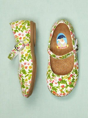 Floral mary janes.