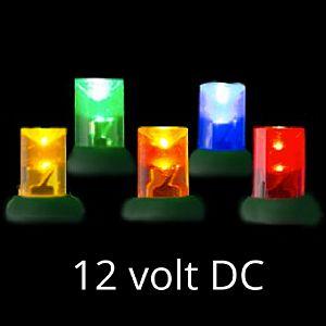 12 volt led light set multi green wire - 12 Volt Led Christmas Lights