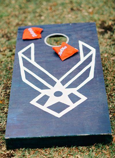 Customized USAF Corn hole boards