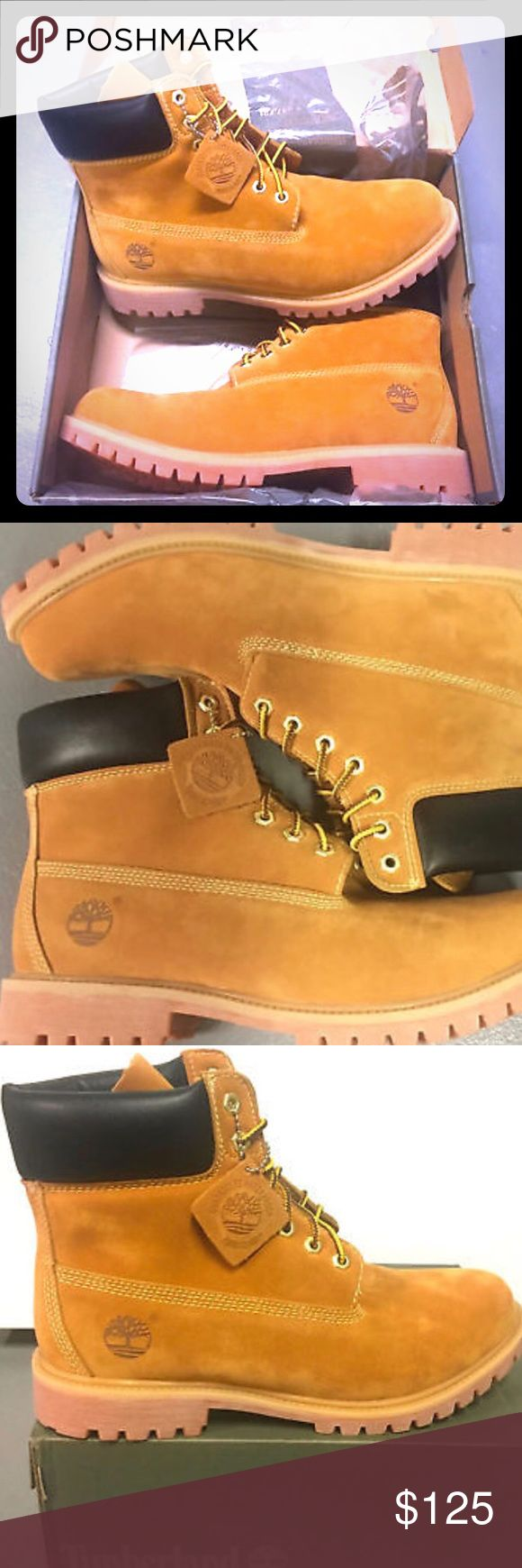 """Selling a size 10 in men 6"""" wheat timberland boots Nubuck wheat Timberlands Men's boot Timberland Shoes Boots"""