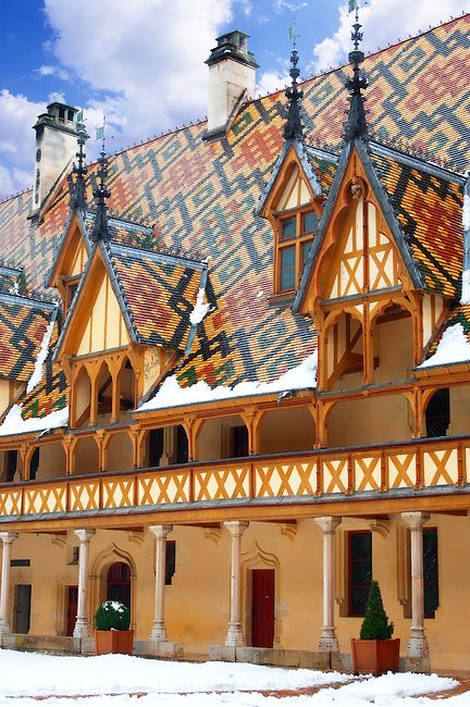 Hospice de Beaune, a former charitable almshouse in Beaune, France founded in 1443