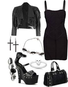 Outfits, gothic fashion.