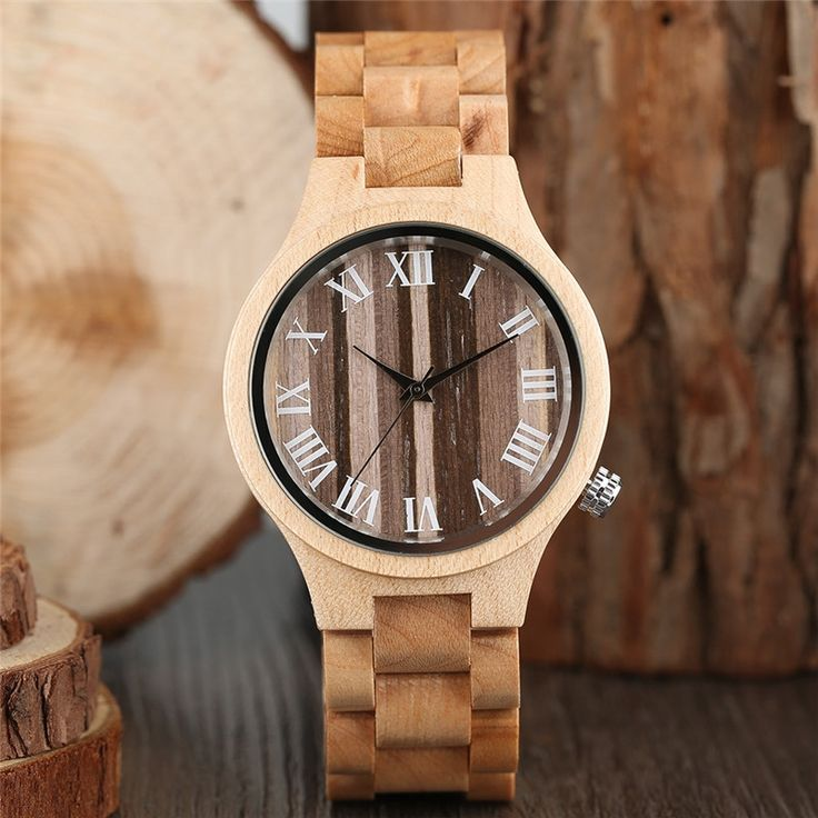 19.99$  Buy now - Fabulous Quality Lady Watch Wood Women's Wristwatch Forest Style Bracelet Fashion Female Clock Roman Number orologi donna 2017  #buymethat