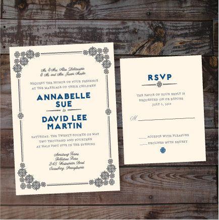 Art Deco Vintage Wedding Invitation  DIY PRINTABLE by Annamalie, $39.00