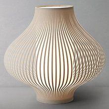 Buy John Lewis Harmony Ribboned Table Lamp, Natural, Small Online at johnlewis.com