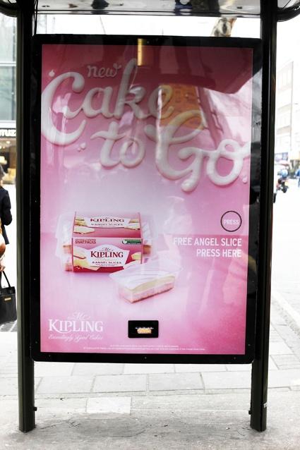 Brilliant free Kipling cake give-a-way at bus stops!