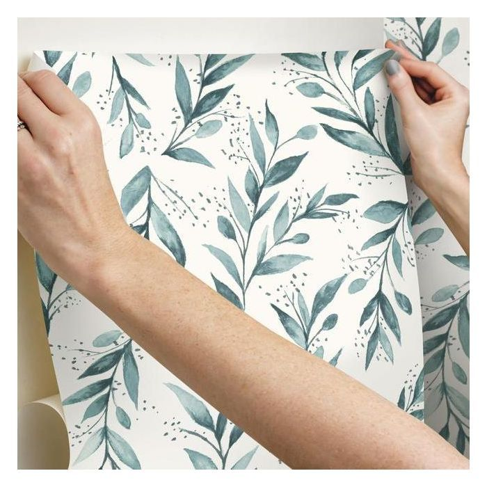 Magnolia Home Olive Branch Teal Peel Stick Wallpaper Relish Decor In 2021 Magnolia Homes Peel And Stick Wallpaper Olive Branch