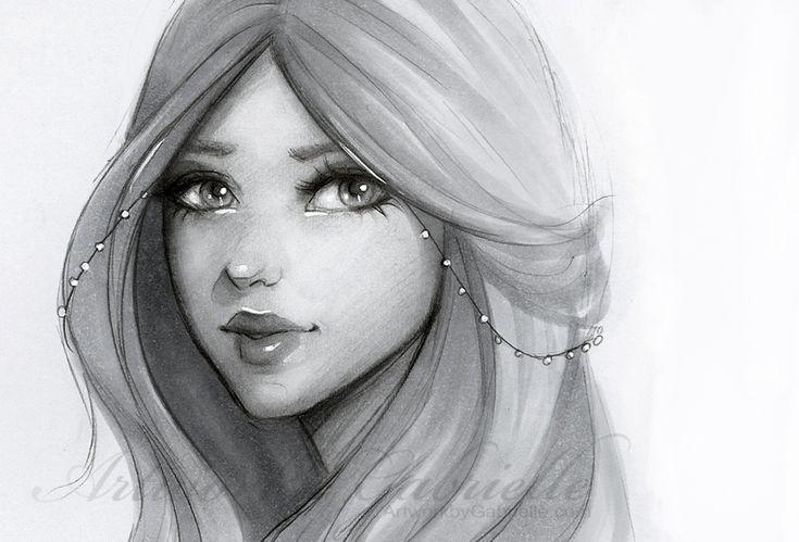 """Pearl"", girl illustration / ""Perla"", illustrazione ragazza, disegno - Artwork by Gabrielle (by gabbyd70 on deviantART)"